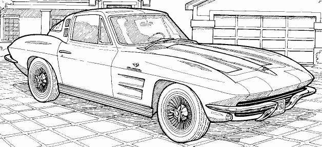 coloriage voiture course