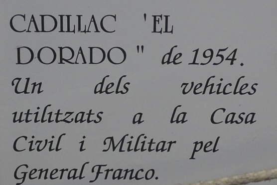 1954 cadillac 62 sedan  ex g u00e9n u00e9ral franco