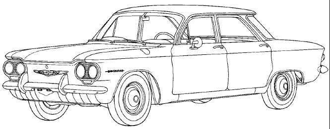 1960 chevrolet corvair deluxe sedan 2dr