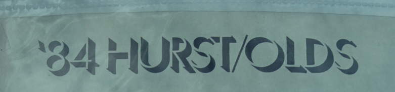 Olds Hurst 1983 Om840200a