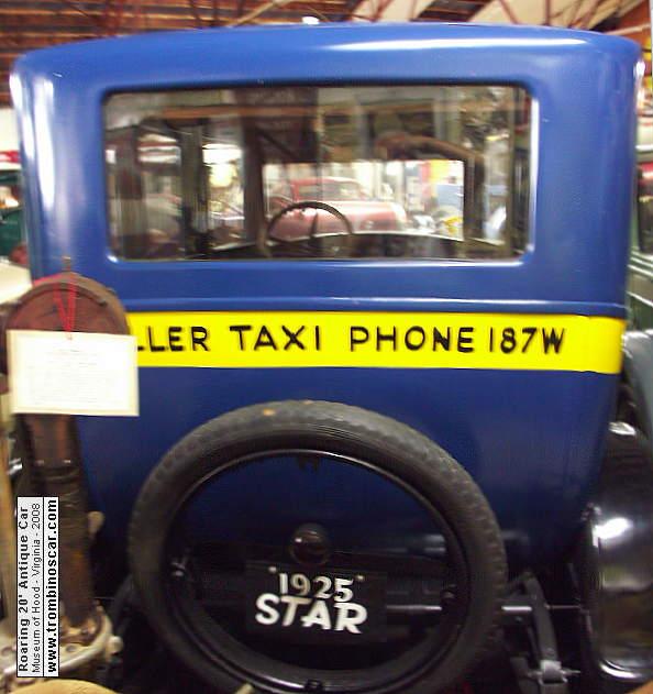1925 star taxi cab. Black Bedroom Furniture Sets. Home Design Ideas